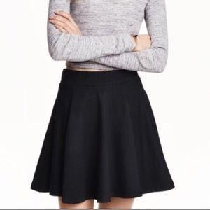 H&M Black Skater Skirt Size M